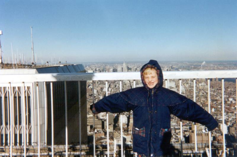 Elizabeth on Top of the World Trade Center
