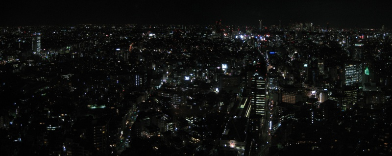 Tokyo at Night From Ebisu Garden Place Tower