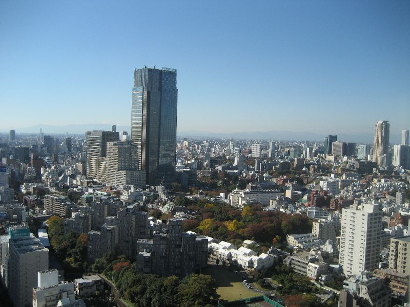 Downtown Tokyo from Tokyo Tower