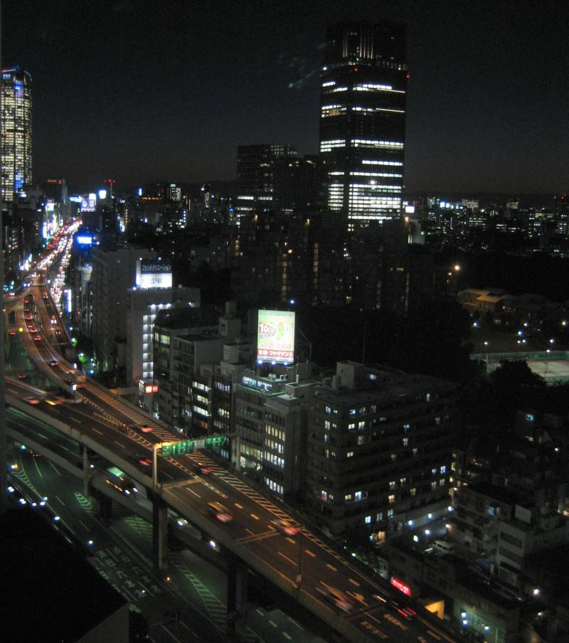 Looking Toward Roppongi from Ark Hills - Nighttime