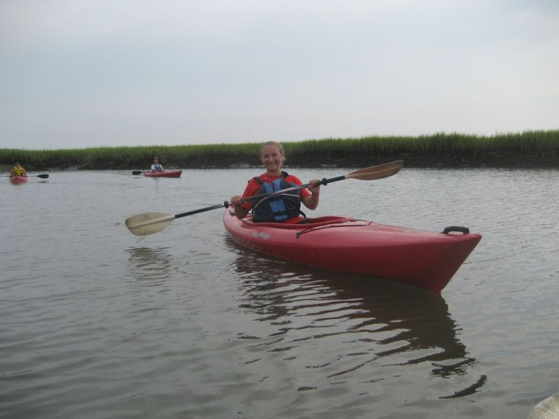 Lizzie kayaking in SC