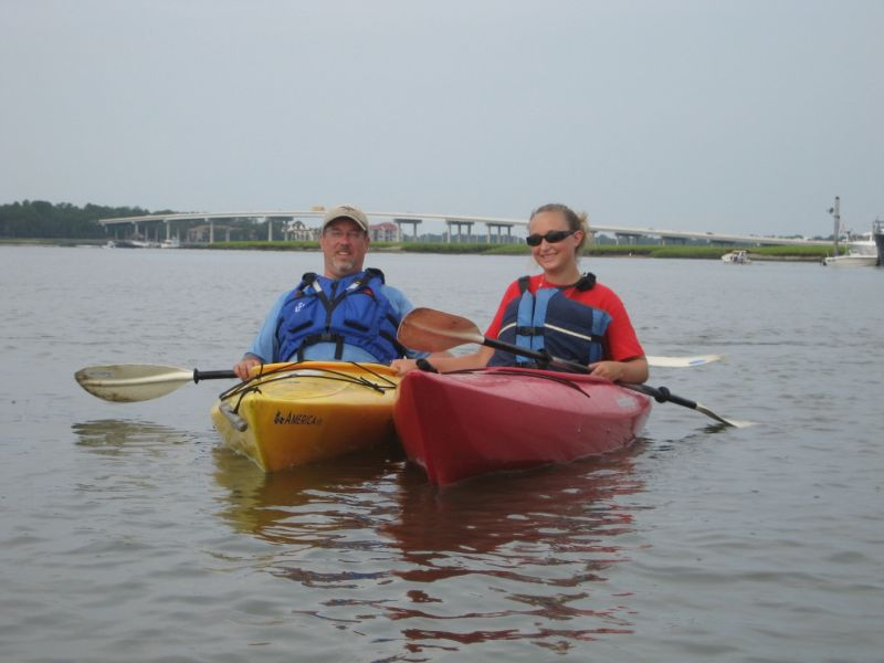 Scott & Lizzie kayaking in SC